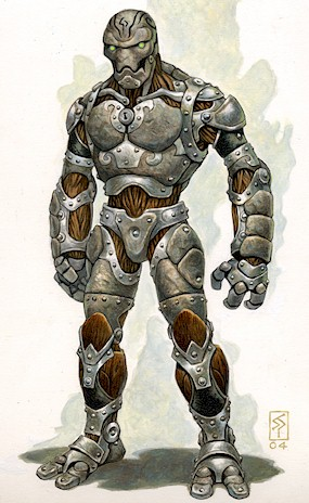 La couronne des Cendres, campagne médiéval fantastique high fantasy 2014 Warforged-01