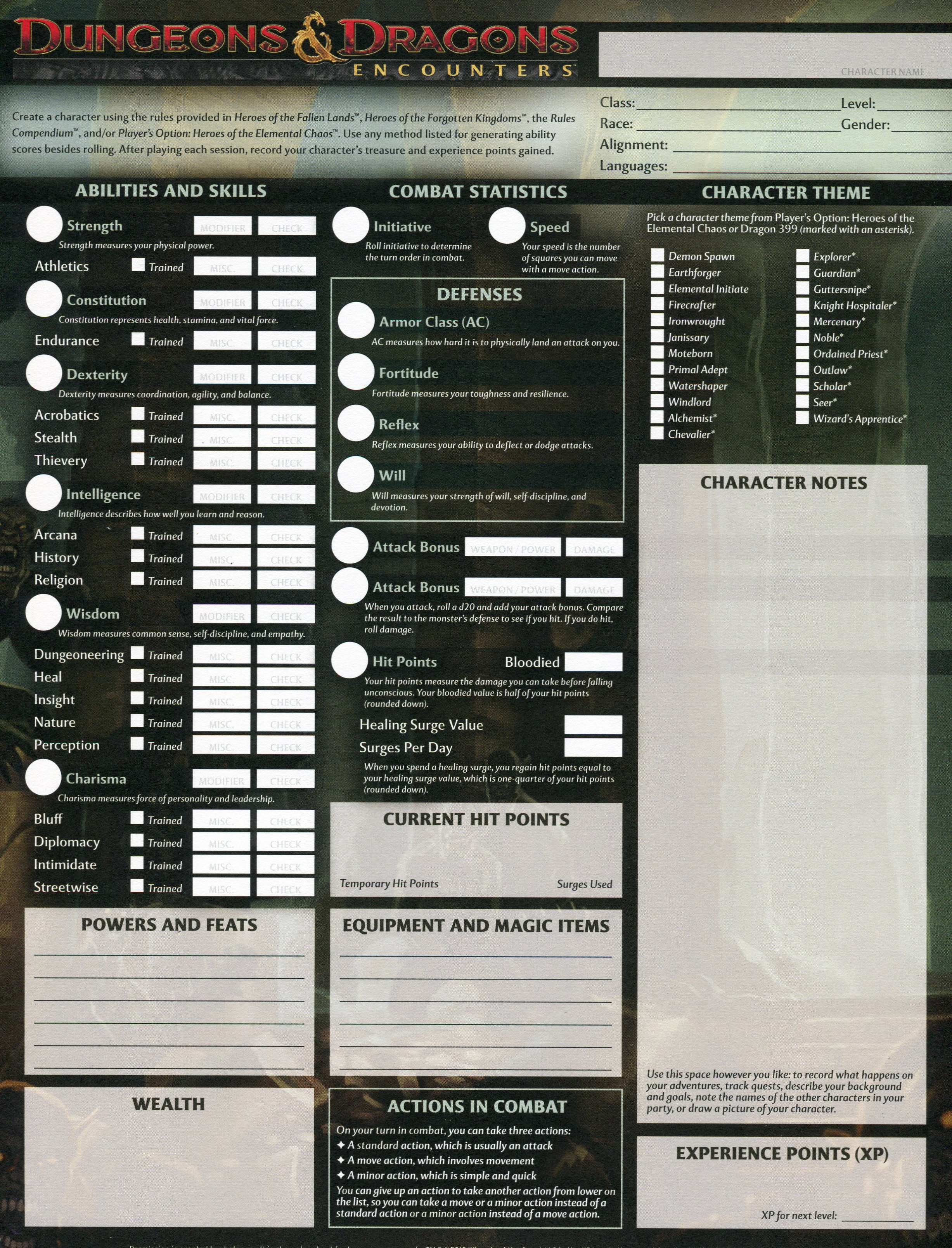 how to create character sheet dnd 5e