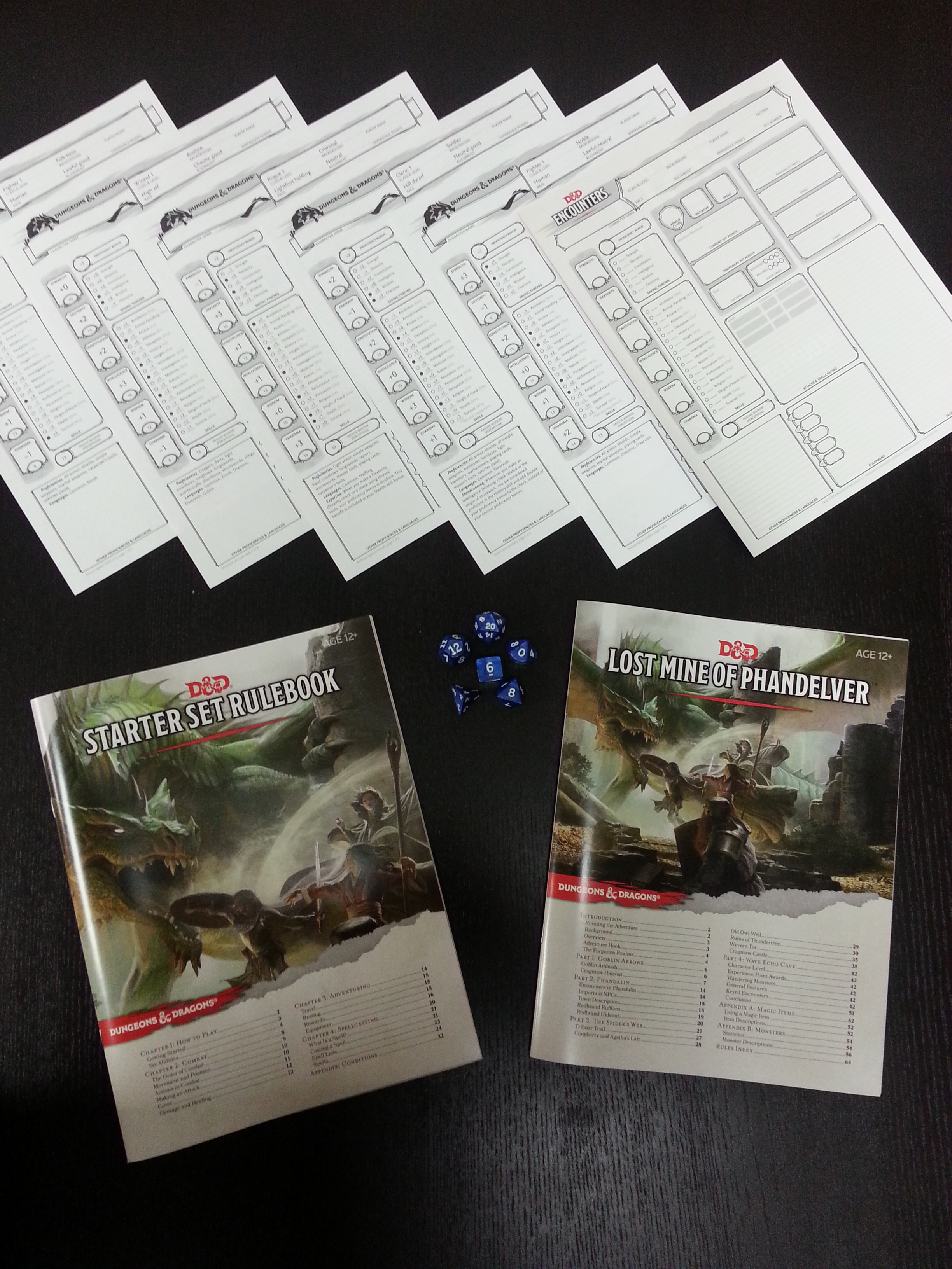 lost mines of phandelver character sheets pdf
