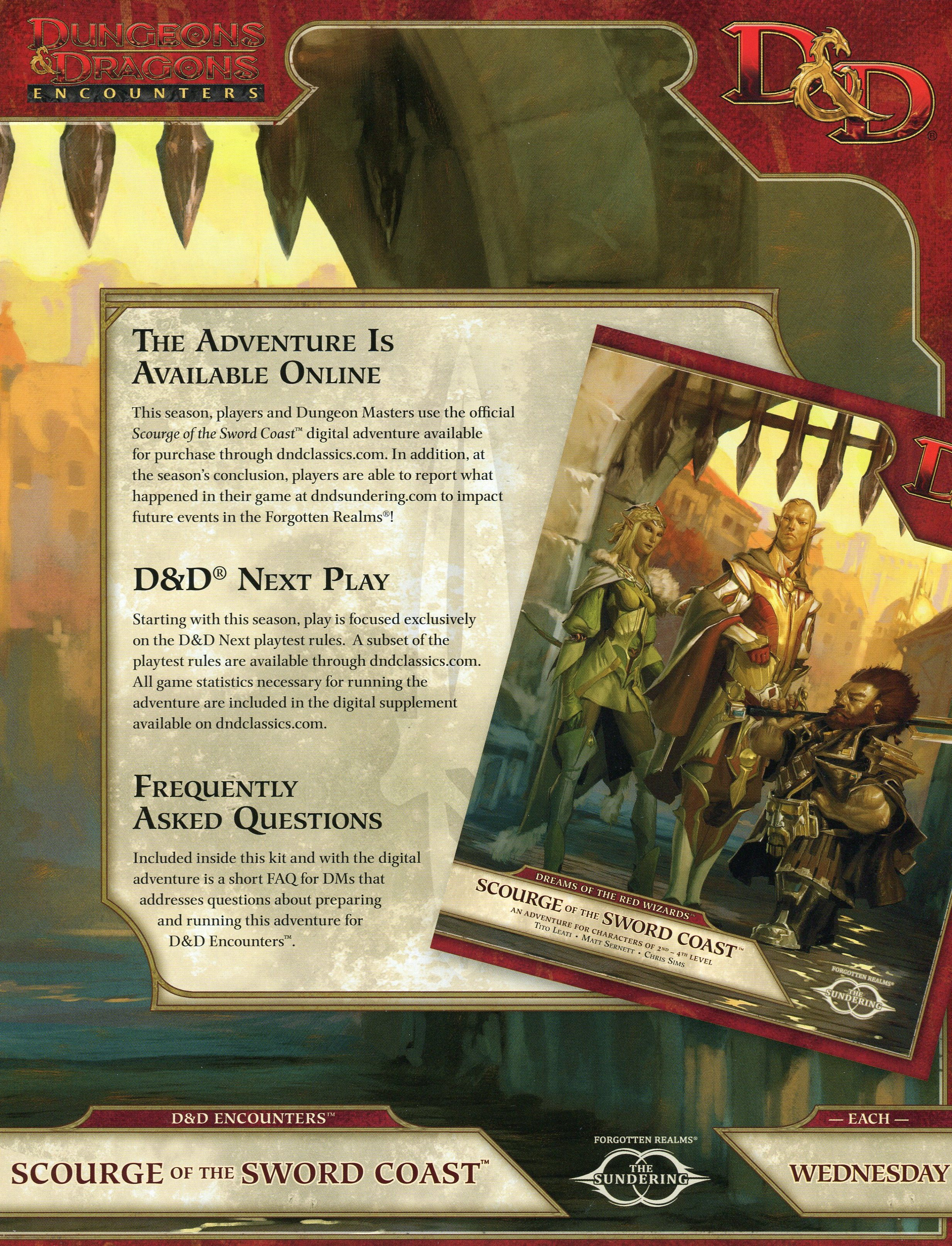 D&D Encounters: Scourge of the Sword Coast – Preview — Dungeon's Master